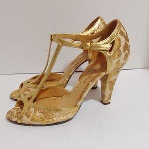 Anthro Bettye Muller vintage inspired heels